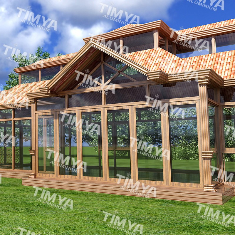 2015 A9 Aluminum Curved Glass Sunrooms Roof Buy Glass