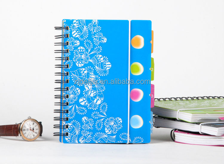 spiral notebook with subject dividers