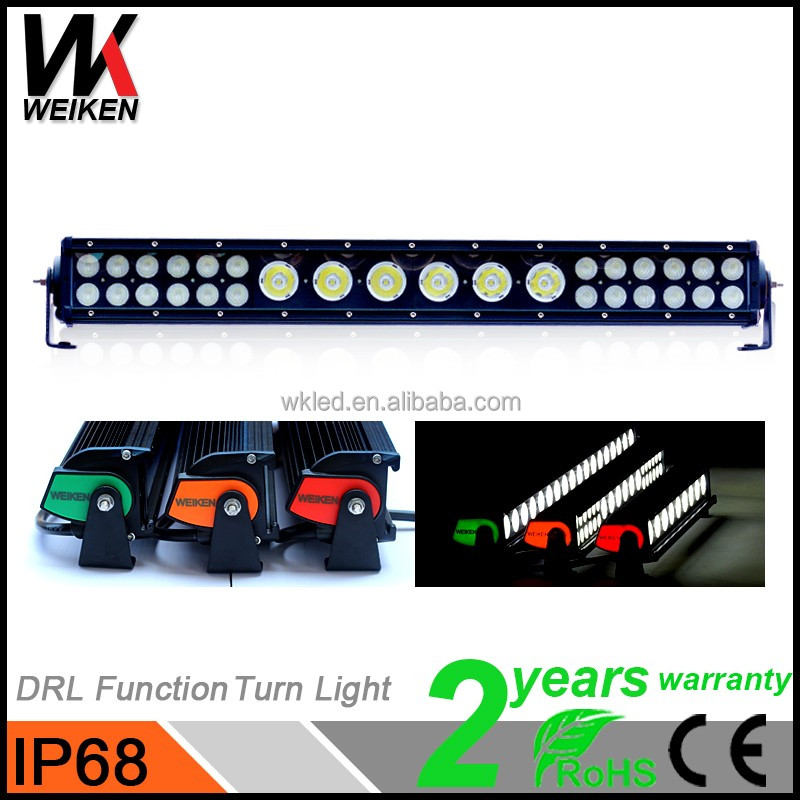 WEIKEN Wholesale Flood/Spot Marine Boat Truck ATV snowmobile 12V Waterproof LED Light Bar White/Black aluminum housing