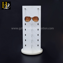 hot sale acrylic sunglasses eyeglasses floor display rack holder with mirror, glasses display acrylic stand holder