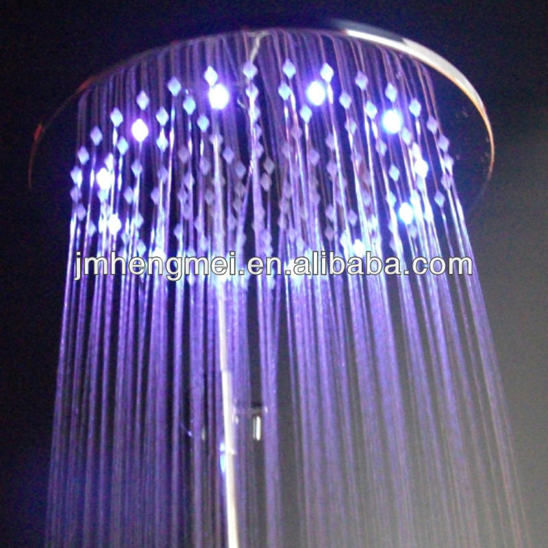 Hot-selling 12 inches round brass led ceiling shower head led top big rain shower