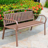 Customized Top Quality Modern Patio Furniture Metal Outdoor 2 Seater Wooden Garden Benches With Back Seats For Sale