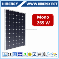 High efficiency 250w 255w 260wp 265w 270 watt 30V monocrystalline photovoltaic panel pv solar panel made in China cheap price ce