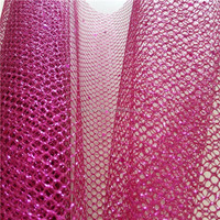 beautiful sequin& glitter poly mesh fabric floral wrapping