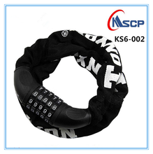 Cheapest NEW chain lock combination lock bicycle accessories 5 digimbination lock/ Chain Cable anti-theft