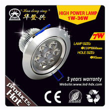 Different size & power energy conservation 9w leds round ceiling lights