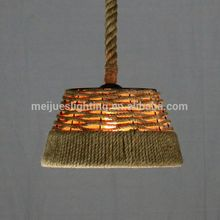 New design high safety large lighting hotel decoration cut lead hemp rope chandelier light for lobby ceiling