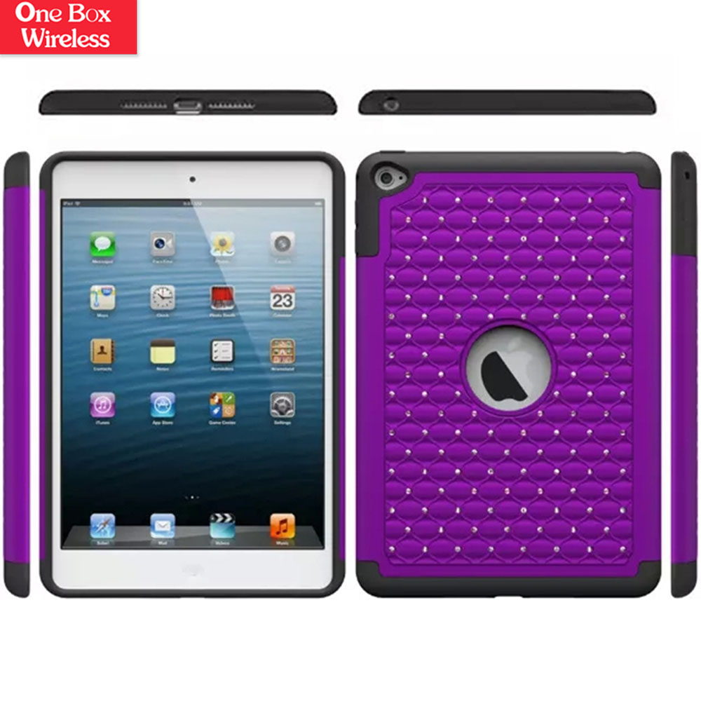 Alibaba Express Turkey Hybrid Dual Layer Diamond Case for iPad 6 Ring Prevail 2 Hard Cover & Soft Silicone Case