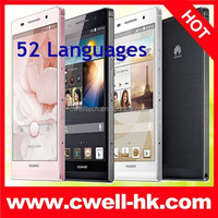 4.7inch Huawei Ascend P6 Quad Core 2+8GB Memory 8.0MP Camera HD IPS Screen Huawei Ascend P6 Android Mobile Phone Wifi GPS