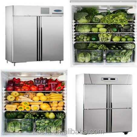 Double Doors High Quality Upright Refrigerator Freezer