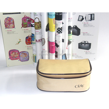 China Alibaba Website custom Pu PVC leather makeup bag organizer cosmetic makeup bag
