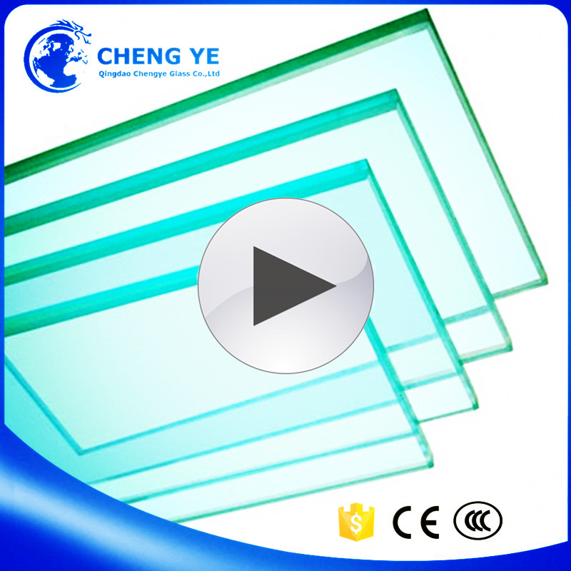 China Factory Colored 12mm Thick Toughened Tempered Glass Green House