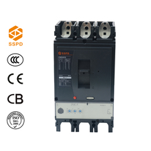 SSPD 630 amp electrical moulded case circuit breaker 3P, dc moulded case circuit breaker %