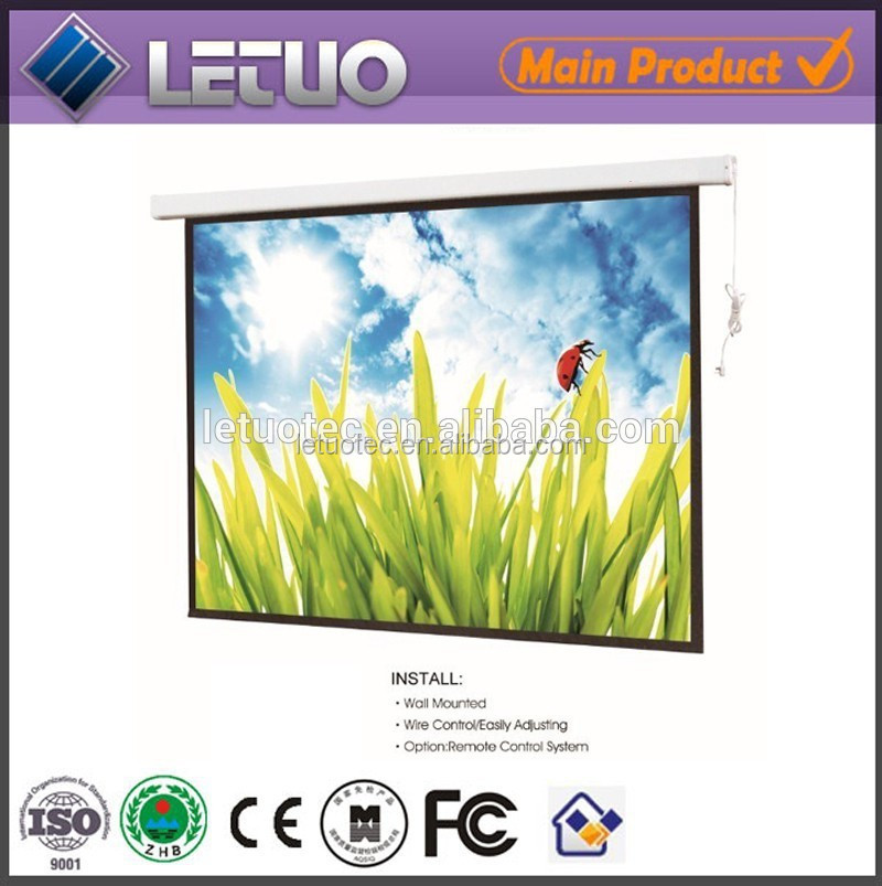 "hot new products for 2015 electric 150"" motorized projector screen 120 inch projector screen"