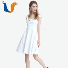 2018 elegant plain chic special sling lady office formal dress for women