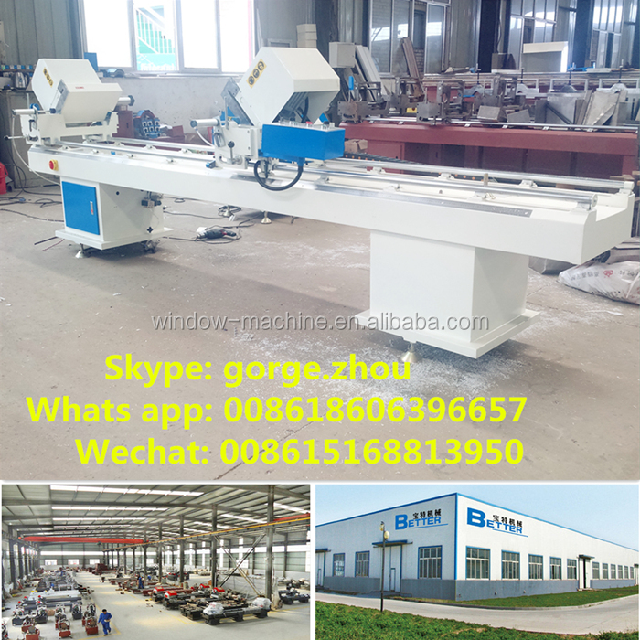 Double head Mitre Saw Machine for PVC Profile / Equipment for PVC Windows Doors