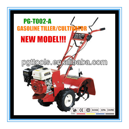 6.5HP Gasoline Power Tiller Yard Farm Tractor And Tools Agricultural Tractors Implements