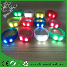 led pulse patented silicone wristband silicone bracelet with motion sensor LED light