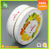Food storage round gift candy metal tin box