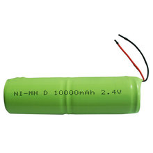 NiMH D size 10000mAh 2.4V LED rechargeable battery
