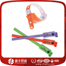 For One Time Used RFID Bracelet Custom Hospital Disposable PVC Wristbands