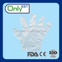 Bags of 100 fits either hands hdpe cleaning pe glove OEM acceptable