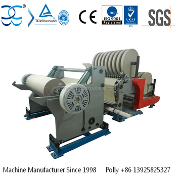 Slitting And Rewinding Machine For Kraft Paper