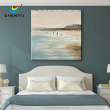 Coastal Canvas Wall Art Handpainted Art Home Decor Art with Floating Frame