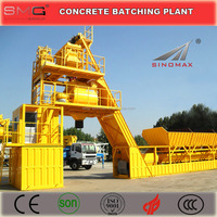 100m3/h YHZS100 Mobile Ready Mix Concrete Batching Plant for sale made in China