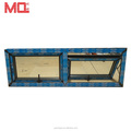Factory supply new design frosted glass awning window