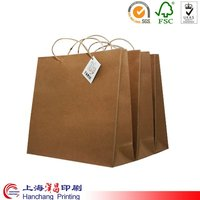 Personalized cheap custom brown paper bag
