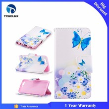 Good Quality Mobile Phone Case for Huawei P10 Plus Knife Buckle Painting Card Bracket Leather Case