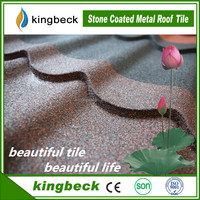 low price color coated galvalume metal roofing baikal stone tiles for house