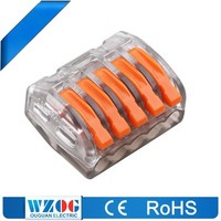 WZOG Hot Sale 415-A Equivalent Wago 222 Series 5 pins wire plug connector
