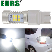 EURS factory cheap price brake lights 800lm white tail light 7440 7443 2835 21smd car led 21w t20 bulb