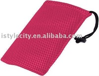 Mesh Travel Pouch (Hot Pink)