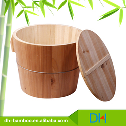 custom rice cooker wooden rice barrel,wooden rice bucket For Sale