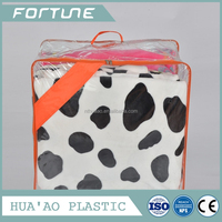 plastic film pvc wire bag for quilt or blanket packaging