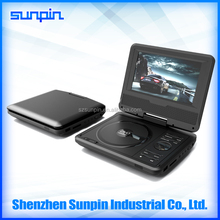 7 Inch High Definition Portable DVD Player with Digital TV Tuner