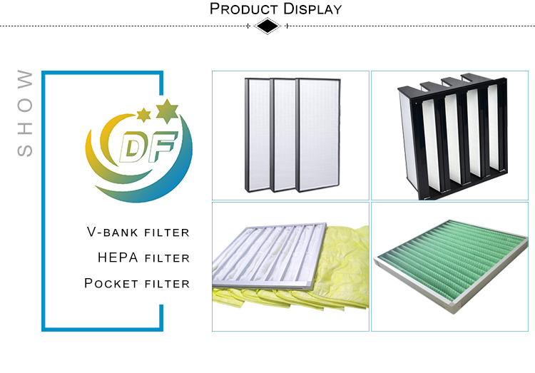 F8 Synthetic fiber Pocket filter Medium for air condition units