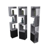 large acrylic display cube 3 tier acrylic display case stand