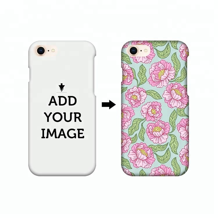IKF Flowers Design Custom 3D Heat Transfer Printing Hard PC Mobile Phone Case for Iphone 8
