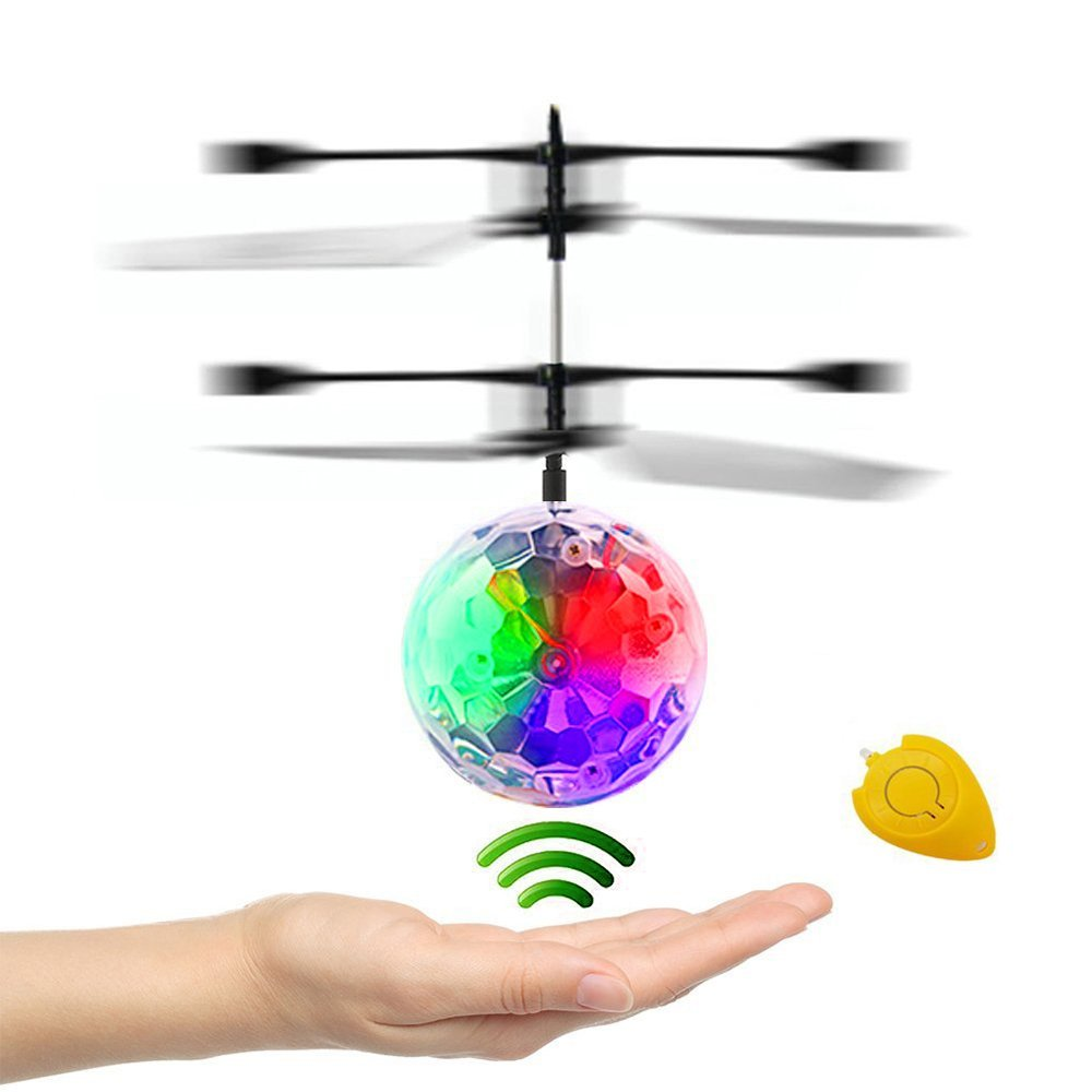 High Quality Interesting Mini Flying Ball Toy Emoji Face Heli Ball for Kids XY-102