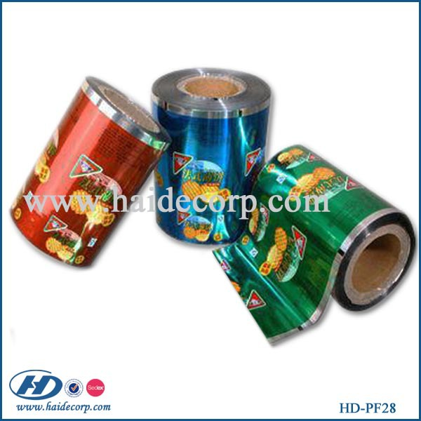 food grade metallized plastic film