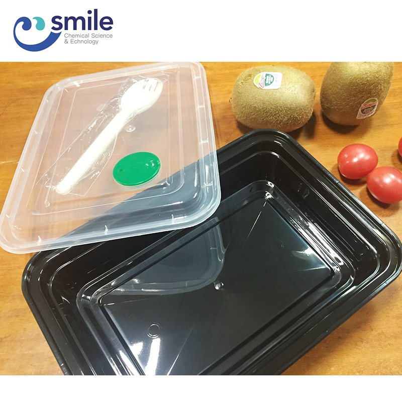 Upscale disposable food packaging box hot food transportation takeaway food boxes with spoon