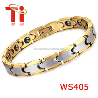 Silver and gold tungsten energy magnetic healthy tungsten Bracelet for Men