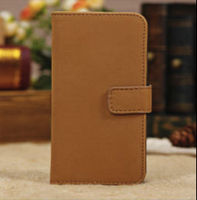 New Style High Quality PU Leather Stand Case with Card Holders for Apple iPhone 5C