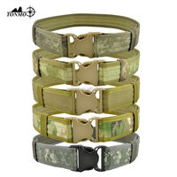 Wholesales military nylon suspender belt camouflage police army duty tactical belt