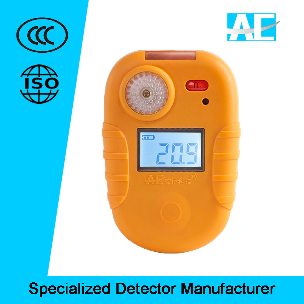 China factory outlet portable <strong>O2</strong> oxygen gas alarm