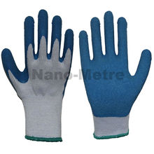 NMSAFETY garden cotton lined latex gloves